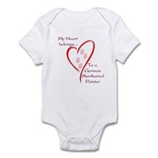 GSP Heart Belongs Infant Bodysuit