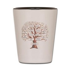Family Occupation Tree Shot Glass