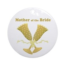 Golden Mother of the Bride Ornament (Round)