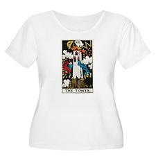 THE TOWER TAROT CARD Plus Size T-Shirt