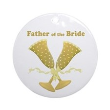 Golden Father of the Bride Ornament (Round)