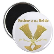 Golden Father of the Bride Magnet