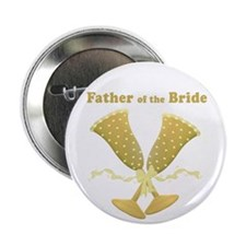 "Golden Father of the Bride 2.25"" Button (10 pack)"