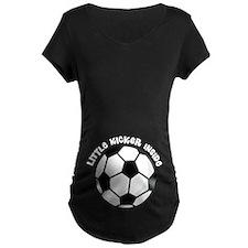 Soccer Ball Little Kicker Inside Maternity T-Shirt