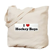 I Love Hockey Boys Tote Bag