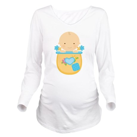 Baby Boy Pregnancy Long Sleeve Maternity T-Shirt