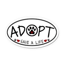 Universal Animal Rights Oval Car Magnet