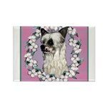 Powder Puff Chinese Crested Rectangle Magnet (10 p