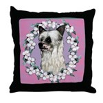 Powder Puff Chinese Crested Throw Pillow