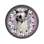 Powder Puff Chinese Crested Wall Clock