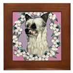 Powder Puff Chinese Crested Framed Tile