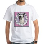 Powder Puff Chinese Crested White T-Shirt