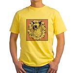 Powder Puff Chinese Crested Yellow T-Shirt