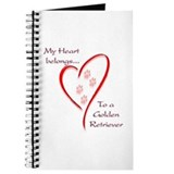 Golden Retriever Heart Belongs Journal
