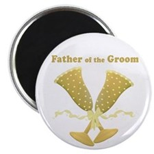"Golden Father of the Groom 2.25"" Magnet (100 pack)"