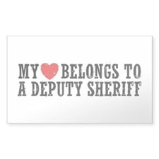 My Heart Belongs to a Deputy Sheriff Decal