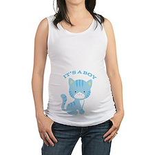 Baby Kitten Its a Boy Maternity Tank Top