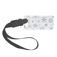 Cool Silver snowflake Luggage Tag