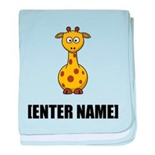 Giraffe Personalize It! baby blanket