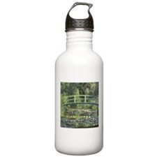 Water Lilies and Japanese Bridge Water Bottle