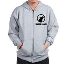 Wolf Personalize It! Zip Hoodie