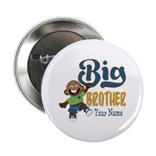 """Happy Silly Big Brother Monkey 2.25"""" Button"""