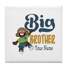 Happy Silly Big Brother Monkey Tile Coaster