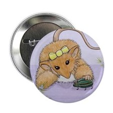 "Giddy Glinda P9 Woodhill Whiskers 2.25"" Button"
