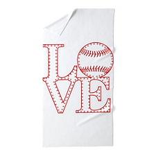 Love Baseball Laces Light Beach Towel