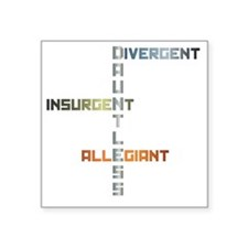 "Dauntless - Divergent, Insu Square Sticker 3"" x 3"""