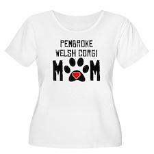 Pembroke Welsh Corgi Mom Plus Size T-Shirt