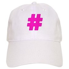 Hot Pink #Hashtag Baseball Cap