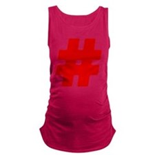 Red #Hashtag Maternity Tank Top