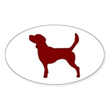 Just Beagle (Red) Oval Decal