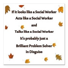 "brilliant problem solver Square Car Magnet 3"" x 3"""