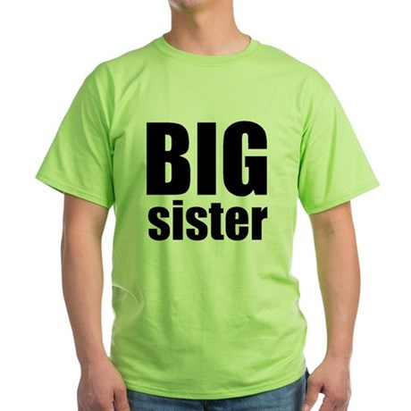 Big Sister Green T-Shirt