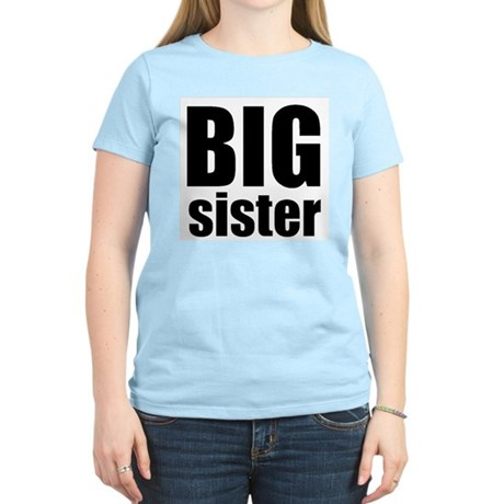 Big Sister Women's Pink T-Shirt