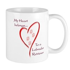 Lab Heart Belongs Mug