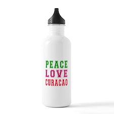 Peace Love Curacao Water Bottle