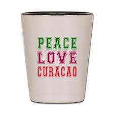 Peace Love Curacao Shot Glass