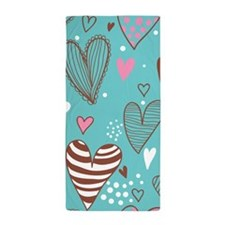 Cute Hearts Beach Towel