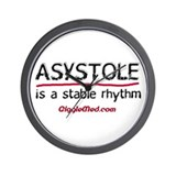 Asystole 2 Wall Clock