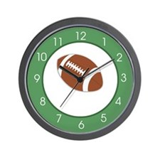 Sports Fan Football Green Wall Clock