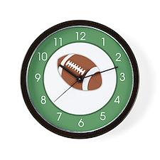 Sports Fan Football Green Wall Clock