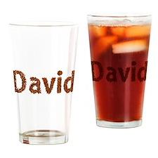 David Fall Leaves Drinking Glass