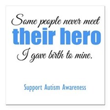 "Hero Autism Square Car Magnet 3"" x 3"""