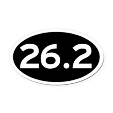 26.2 Black Oval Car Magnet