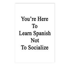 You're Here To Learn Span Postcards (Package of 8)