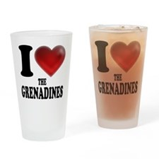 I Heart The Grenadines Drinking Glass