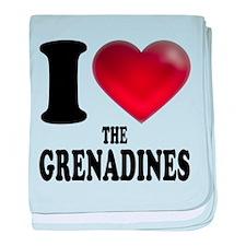 I Heart The Grenadines baby blanket